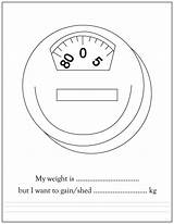 Coloring Weight Printable Loss Colouring Ziyaret sketch template
