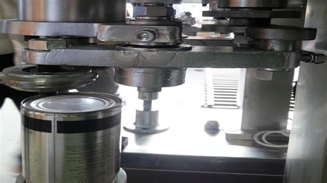 metal cans sealing machine semi automatic milk powder containers seamer equipment pneumatic