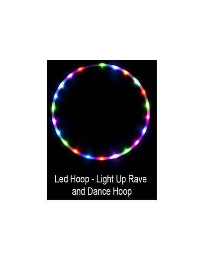 Hula Led Hoop Lights Dance Rave Fangs