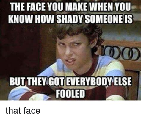 How Do You Make Memes - the face you make when you know how shady someone is but they got everybody else fooled that