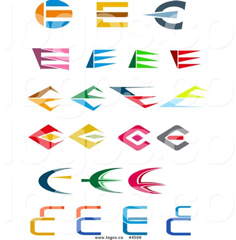 e by design royalty free collage of letter e design logos by vector