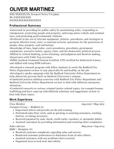 H M Resume by H M Sales Advisor Resume Sle Denver Colorado Resumehelp