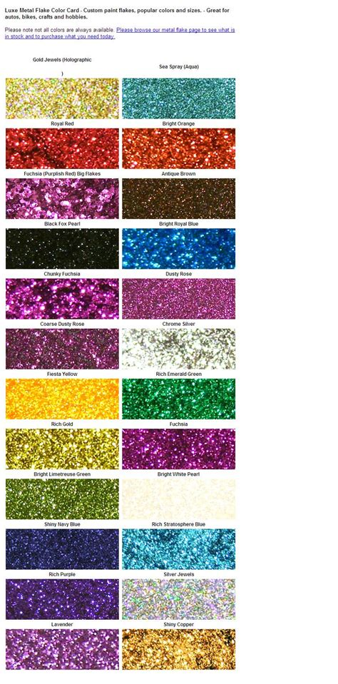 metal flake color card save time and maximize your