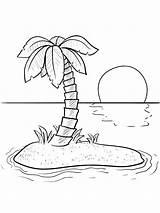 Coloring Island Insel Ausmalbilder Template Animal Nature Ausdrucken Malvorlagen Kostenlos Zum Fun Animals sketch template