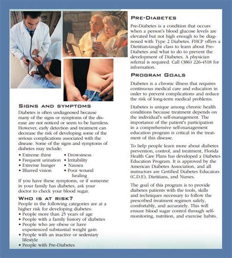 diabetes brochure templates sample templates