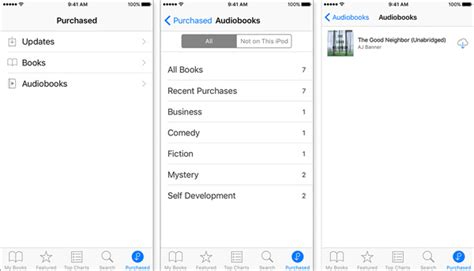 itunes audiobooks iphone how to purchased itunes audiobooks