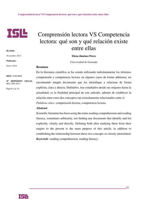 (pdf) Comprensión Lectora Vs Competencia
