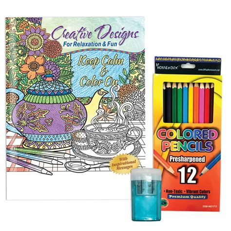 adult coloring book gift set keep calm color on adult coloring book colored pencils