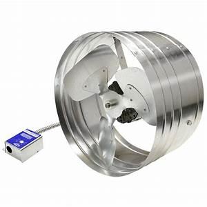 Master flow 1600 cfm power gable mount attic fan egv6 for Cupola ventilation