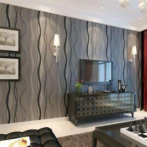 simple wave stripe nonwoven wallpapers bedroom  rolls