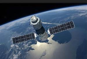 Artist's illustration of China's Tiangong-1 space station ...