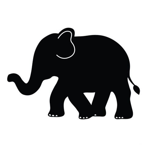elephant clipart outline trunk up 25 best ideas about elephant outline on
