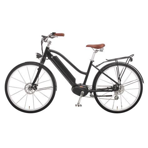 retro e bike damen e bike in black mittelmotor 350w mit schutzblech