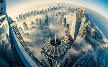 Dubai 4k Building Buildings Fog Night Cloud