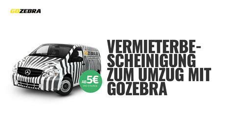 Mieter Vermieter Umzug Nur Noch Mit Bescheinigung by Vermieterbescheinigung Transporter Mieten Gozebra