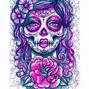 Images Of Pink Sugar Skull Background Golfclub