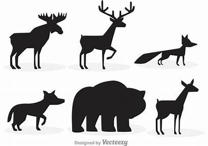 Silhouette Forest Animal Silhouettes Vector Wolf Bear