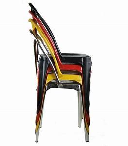 Chaise Style Industriel en Métal Vintage Noir Wadiga