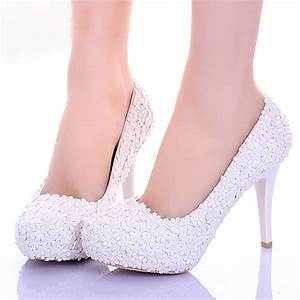 white lace flower formal dress shoes comfortable With comfortable wedding dress shoes