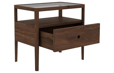 Spindle Nightstand by Spindle Nightstand Walnut Ethnicraft Brands One