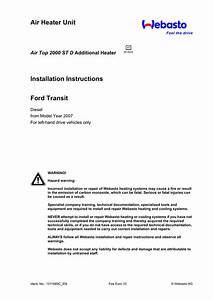 Air Heater Unit Installation Instructions Ford Transit Air