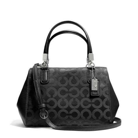 lyst coach madison mini satchel  op art sateen fabric