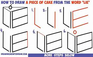 """How to Draw a Piece of Cake from the Word """"LIE"""" for a ..."""