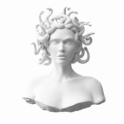 Greek Bust Sculpture Mythology Medusa Statue Statues