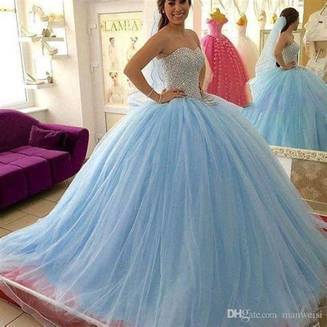 light blue 15 dresses light sky blue crystal quinceanera dresses beaded
