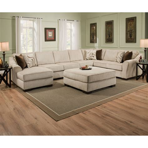 Simmons Kingley Right Facing Sofa Sectional With Chaise