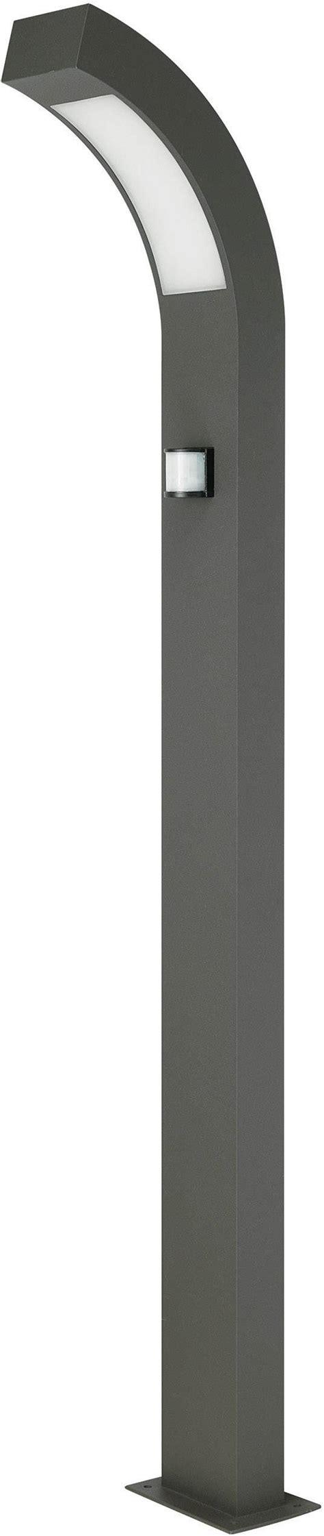lampadaire led exterieur avec detecteur de mouvements prebent   anthracite  cm conradfr