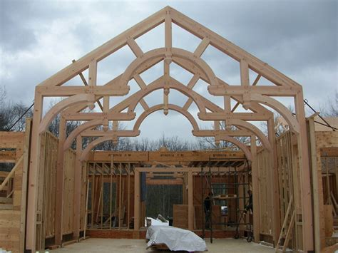 south county post beam  gallery timber frame post