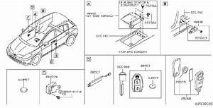 Nissan Versa Sensor Air Bag  Center   Front