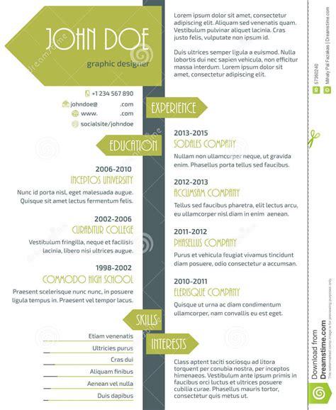 Curriculum Vitae Template Modern by Modern Curriculum Vitae Keres 233 S Resume Graphic Resume