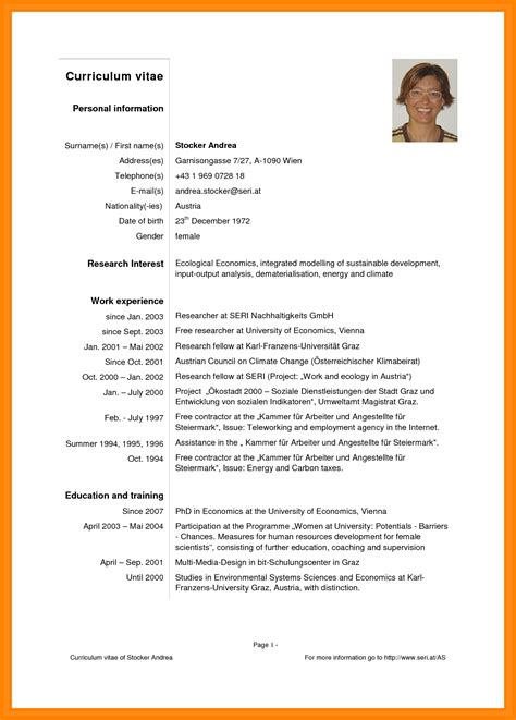 Exle Of A Written Curriculum Vitae by 9 Curriculum Vitae Pdf Theorynpractice