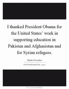 I thanked Presi... President Obama Syria Quotes