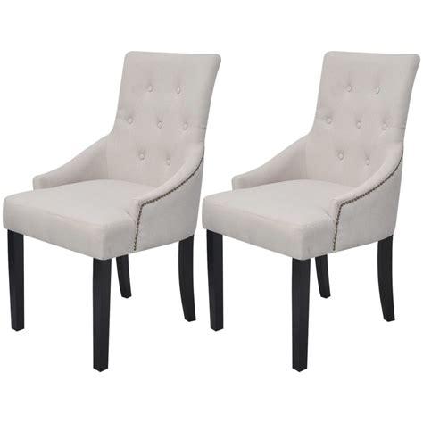 chaise fauteuil pour salle a manger la boutique en ligne vidaxl 2 chaises pour la salle à