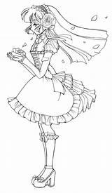 Coloring Gothic Line Deviantart Lolita Anime Pages Adult Lineart Printable Stamps Boy Digi Cool Drawing Adults Google Colouring Drawings Lovely sketch template
