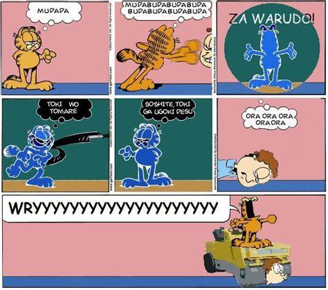 Wrrrry Meme - image garfield za warudo jpg jojo s bizarre encyclopedia fandom powered by wikia
