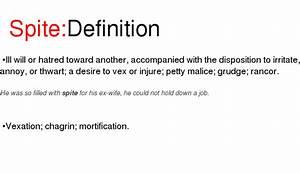 Carter_esque... Spiteful Definition