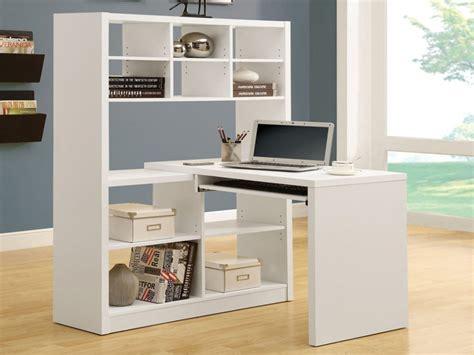 White Corner Desk With Shelves