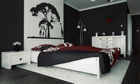 wall painting designs black and white 3 black and white bedroom ideas midcityeast Bedroom