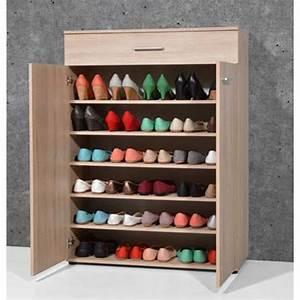 Meuble à Chaussures Original : armoire meuble chaussures ch ne sonoma avec 2 portes et 1 tiroir dim l 89 x h 120 x p 37 cm ~ Teatrodelosmanantiales.com Idées de Décoration