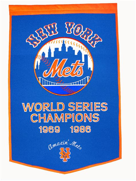 york mets dynasty world series banner  gps