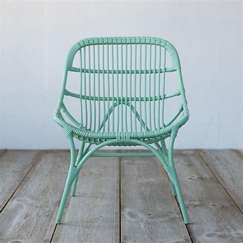 open weave all weather wicker side chair terrain