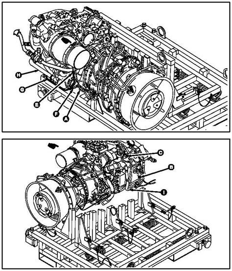 Ge T700 Diagram by Engine Buildup No 1 And No 2 Engine Drain System
