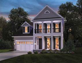 story colonial house plans ideas narrow lot house plans