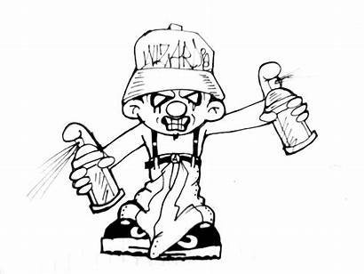 Gangster Coloring Pages Cholo Graffiti Drawing Characters