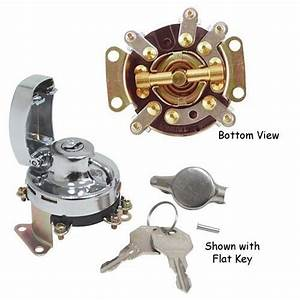 Mechanical Ignition Switch Harley Fat Bob Dash Big Twin Rep 71501