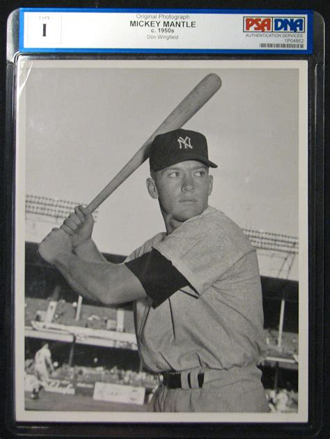 Lot Detail - 1952 Mickey Mantle Type I Original Photograph ...